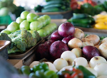 Georgetown farmers market produce