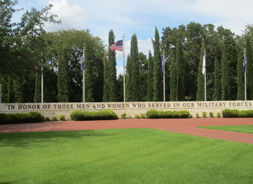 Veterans Memorial Wall in Georgetown