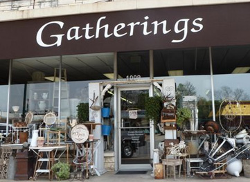 Gatherings Antiques Shop in downtown Georgetown