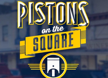 pistons on the square car show