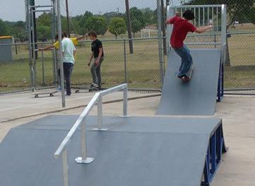 georgetown's skate park in san gabriel park