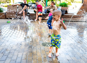 splash pad downtown Georgetown