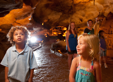 inner space cavern with visitors