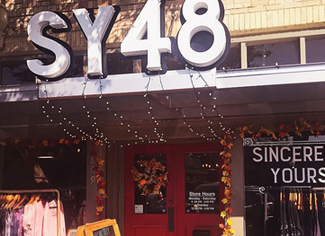 Sincerely Yours 1848 boutique in downtown Georgetown