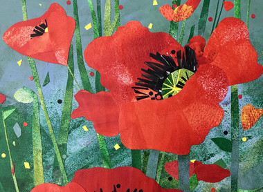 2021 Red Poppy Festival Art by Helen Faythe Green